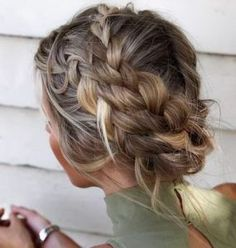 Braid hair, braids for short hair, hair to go, braided hairstyles, pr Bad Hair, Hair Day, Messy Hairstyles, Pretty Hairstyles, Cute Quick Hairstyles, Medium Hair Styles, Short Hair Styles, Updo For Short Hair, Wedding Hair For Short Hair