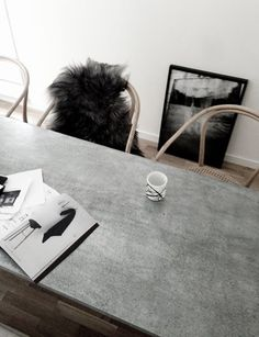 Concrete dining table | Found on EB & Kris | ebandkris.com