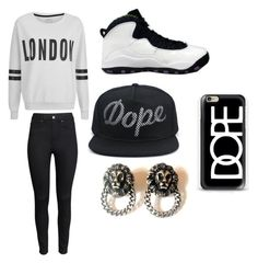 """""""Dope"""" by pk10059-1 ❤ liked on Polyvore featuring H&M, ONLY, NIKE and Casetify"""