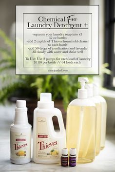 Chemical Free Living Part Household Cleaner – J Cathell - Homemade Laundry Detergent Young Essential Oils, Essential Oils Cleaning, Essential Oil Uses, Thieves Essential Oil, Chemical Free Cleaning, Deep Cleaning, Cleaning Hacks, Cleaning Recipes, Cleaning Wood
