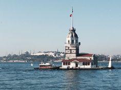 Kiz kulesi, the Maiden's Tower in the Bosphorus, Istanbul, Turkey.