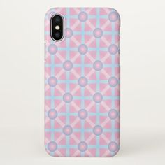 Cute Pink Purple & Light Blue Pattern iPhone X Case - light gifts template style unique special diy