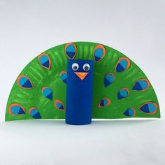Toilet roll Peacock #kidscrafts #kidsactivities