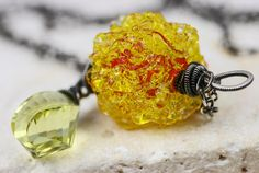 Lampwork Necklace  The SunBurst SnowCone by JewelsByLDesigns, $60.00