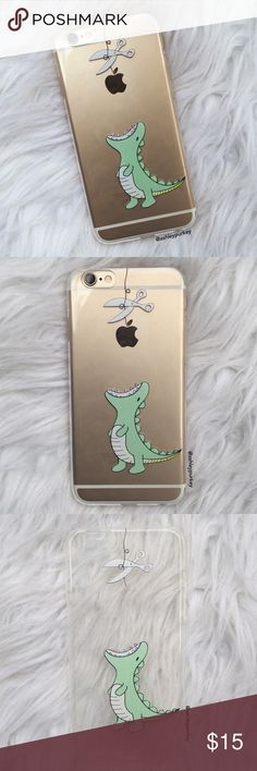 """cartoon green dinosaur iPhone 6/6s 7 7 Plus case •sizes: iPhone 6/6s -OR- iPhone 7 (4.7"""") iPhone 7 Plus (5.5"""")  •flexible silicone  •phone not included   •no trades    *please make sure you purchase the correct size case. i am not responsible if you purchase the wrong size B-Long Boutique  Accessories Phone Cases"""