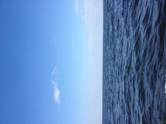 A view of the long island sound   Beautiful Sunday afternoon in August