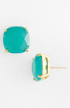 Kate Spade studs in a bunch of different colors... Love the turquoise and pink!
