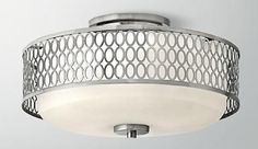 10 pretty close to the ceiling silver light fixtures. Love all these options!