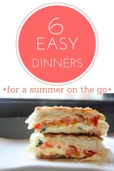 Great ideas for easy dinners on busy summer days #BabyCenterBlog