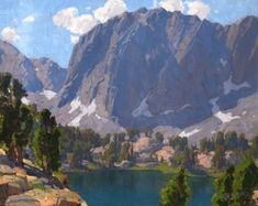Edgar Payne, Big Pine Lake, How To Paint Mountains In Oils Or Acrylics