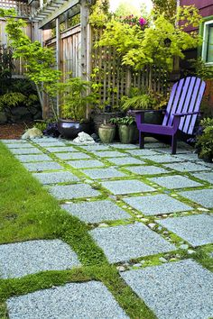 """The water-permeable patio of Seattle resident Jennifer Carlson, created with 12""""…"""