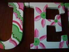 painted wooden letters | Jenna-Hand Painted Wooden Letters | Flickr - Photo Sharing!