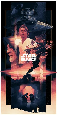 Star Wars: Episode IV A New Hope By John Guydo - Star Wars Paintings - Star Wars Paintings ideas - Star Wars Fan Art, Star Wars Episódio Iv, Film Star Wars, Star Wars Poster, Star Trek Posters, Rock Posters, Star Wars Vintage, Star Wars Outfit, Cuadros Star Wars