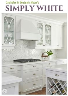 Simply White by Benjamin Moore. Kitchen Projects, Kitchen Remodel, Cabinet Design, Kitchen Design, Interior Design Business, White Kitchen Cabinets, Kitchen And Bath, Latest Kitchen Designs, Bathroom Design Inspiration