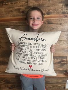 Pillow Inserts, Pillow Covers, Grandma And Grandpa, Grandparent Gifts, Cute Packaging, Love And Light, Kid Names, Grandparents, Grandkids