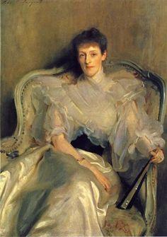 Mrs. Ian Hamilton (Jean Muir), 1896 by John Singer Sargent. Realism. portrait. Tate Britain, London, UK