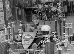 Tony - 10, 1981. Wow, look at the trophies!!  --  Darlington Throwback: See NASCAR drivers (and more) as kids | Photo Galleries | Nascar.com