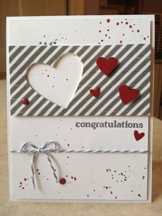 Catherine Loves Stamps: Epic Day Congratulations Hearts Stampin' Up! #stampinup #congratulatios #epic