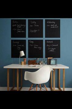 Bureau chaise Eames bleu pétrole