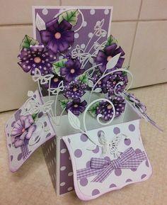 Purple box card