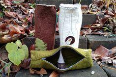 Felt Log Rolls, storage pouch, needle case by ShadyWoods on Etsy