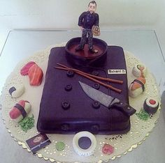 Image from http://www.cakepicturegallery.com/d/1097880-2/Executive+Chef+Uniform+Restaurant+Theme+Cake+with+Sushi.JPG.