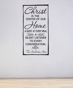 Look at this #zulilyfind! 'Christ Is the Center of Our Home' Personalized Decal #zulilyfinds