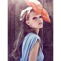 #orange #bow #blue