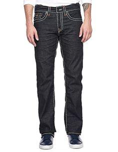 True Religion Men's Dark Big Stitch Ricky Straight Super T Jean Size 40 NWT $328 #TrueReligion #ClassicStraightLeg