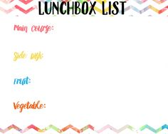 Get ready to stay organized this school year with these lunchbox printables for meal planning! Create a lunchbox meal with these simple suggestions!