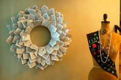 another bookpages wreath