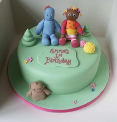 In The Night Garden cake Cbeebies Cake, Race Car Cakes, Garden Cakes, Garden Birthday, Night Garden, Character Cakes, Fondant Figures, Party Cakes, Cake Designs