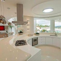 Inside the 5 Luxury Kitchens Luxury Kitchen Design, Dream Home Design, Luxury Kitchens, Modern House Design, Interior Design Kitchen, Plafond Design, Dream House Plans, Cuisines Design, Home Decor Kitchen