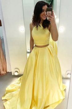 Rings For Teens Cheap Prom Dresses, Two Pieces Prom Dresses, Prom Dresses Simple, Prom Dresses Long, Prom Dresses Yellow