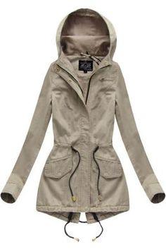Dámska prechodná bunda parka béžová 7086 Raincoat, Outfit, Parka, Jackets, Fashion, Rain Jacket, Outfits, Down Jackets, Moda