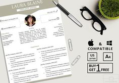 https://www.etsy.com/listing/555791001/resume-template-instant-download