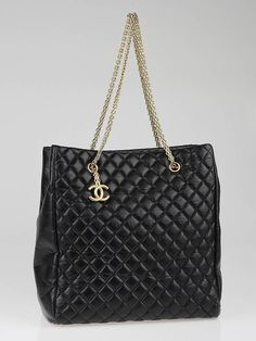 Chanel Black Quilted Calfskin Leather Mademoiselle Large Tote Bag 032b1193165f1