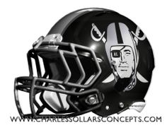 Charles Sollars Concepts @charles elliott elliott Sollars http://www.charlessollarsconcepts.com/nfl-mock-draft-helmet-redesign-round-1/ #NFL #mockdraft #oakland #raiders
