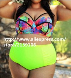 2016 new plus sized design look slimmer women Bikini Swimsuit fat girl Swimwear 130 to 240 pounds XXXL swimming suit Plump sexy #CLICK! #clothing, #shoes, #jewelry, #women, #men, #hats, #watches