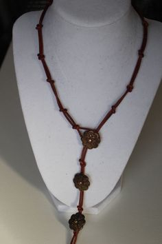 New, Handcrafted Leather Lariat Necklace | eBay