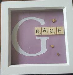 Glitter letter and scrabble tile Children's by pinkumbrellacraftco