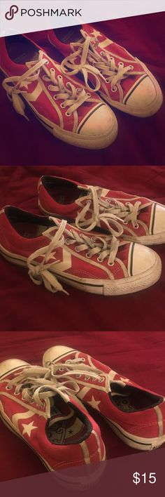 Converse Red all star chucks! Who doesn't like chucks? Converse Shoes Sneakers