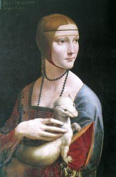 """Die """"Dame mit dem Hermelin"""" von Leonardo da Vinci"""