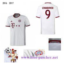 Bundesliga: Maillot Football Bayern Munich Blanc (LEWANDOWSKI 9) Third 2016 2017…