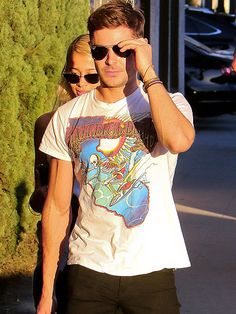 Zac Efron and his rumored girlfriend Sami Miro try to avoid the spotlight while out in L.A. on Wednesday.