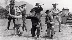 The Magnificent Seven - Yul Brynner, Steve McQueen and Charles Bronso, James Coburn Steve Mcqueen, Robert Vaughn, Ali Macgraw, Jackie Gleason, Sundance Kid, Cinema Tv, I Love Cinema, Charles Bronson, Western Film