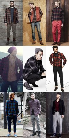 Men's Vintage Clothing: The Plaid Flannel Shirt Lookbook Inspiration