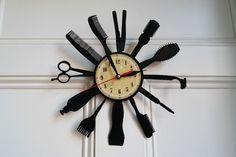Barber Shop design vinyl record wall clock