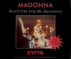 Don't cry for me Argentina (Evita) by Madonna free piano sheet music