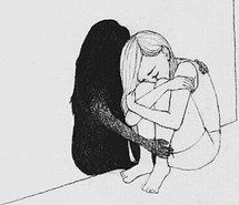 Illustration Sad When I need myself and my shadow, don't say a friend like that doesn't exist. It's so real. It's real and therefore it exists Illustration Sad Source : When I need myself Depression Art, Depression Illustration, Sad Drawings, Drawing Sketches, Drawing Ideas, Drawing Art, Sad Sketches, Pencil Drawings, Sketches